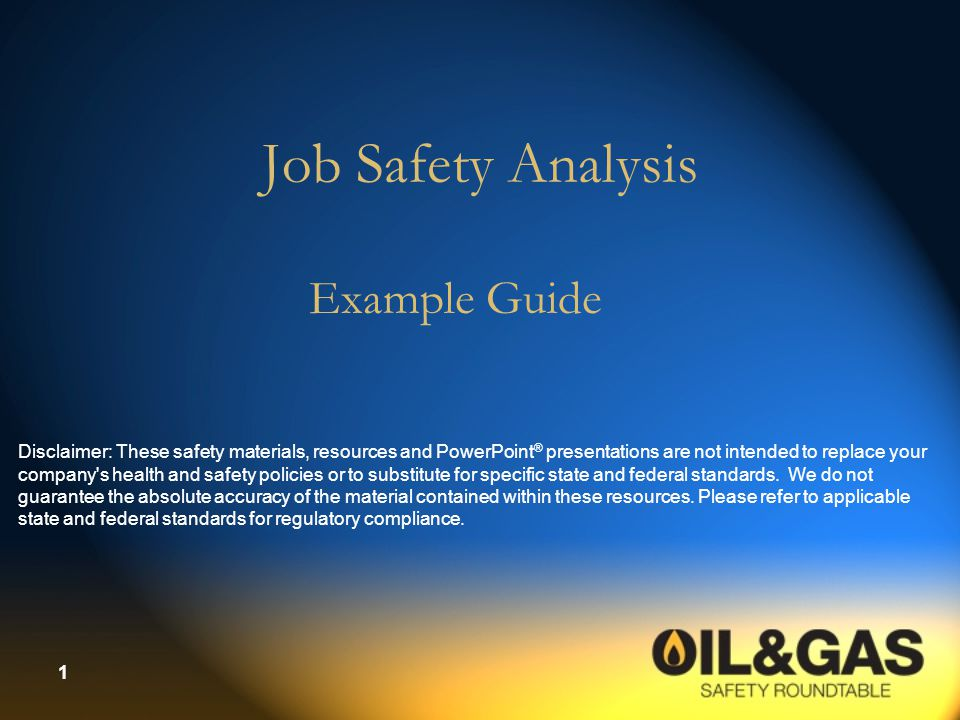 12 Instructions for Conducting a JSA  Review the list of hazards with employees who do the job  Discuss what could eliminate or reduce the hazards