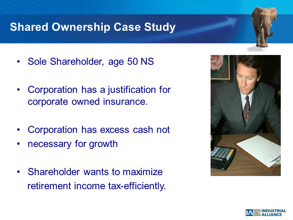 Sole Shareholder, age 50 NS Corporation has a justification for $1Million corporate owned insurance.