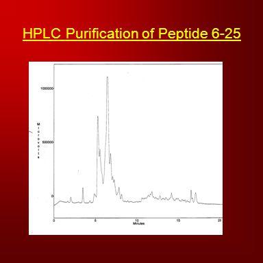 HPLC Purification of Peptide 6-25