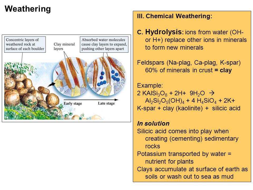 III. Chemical Weathering: C.