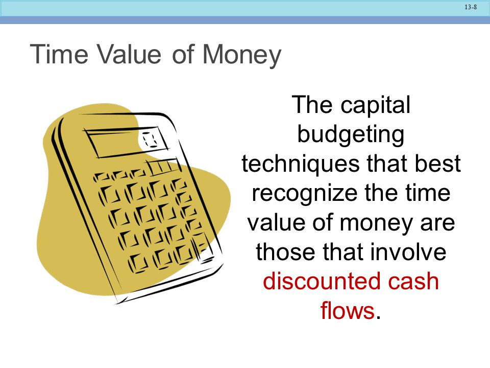 13-39 As another example, the total cash flows in year 3 of $50,000 are multiplied by the discount factor of 0.731 to derive this future cash flow's present value of $36,550.