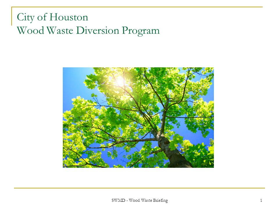 SWMD - Wood Waste Briefing 12 Regional Population and Disposal Growth