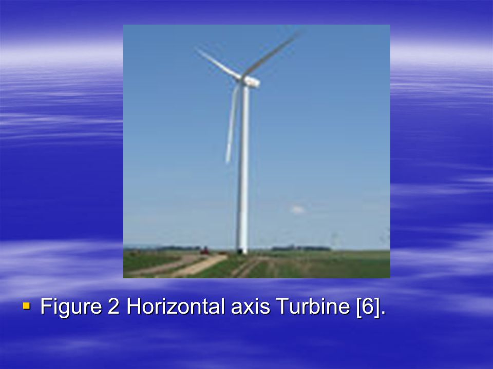  Figure 2 Horizontal axis Turbine [6].