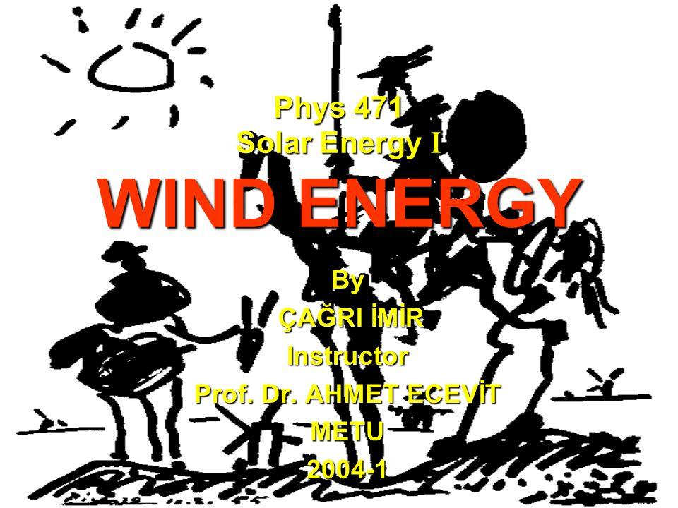 4-WIND ENERGY TECHNOLOGY  Horizontal Axis Turbine  Vertical Axis Turbine  Old-fashioned windmills