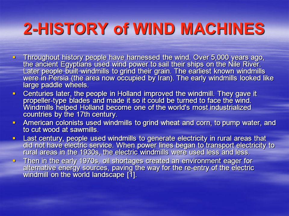  Wind turbine generators produce a range of electricity.