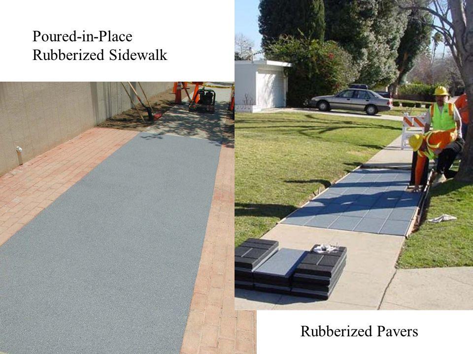 Poured-in-Place Rubberized Sidewalk Rubberized Pavers