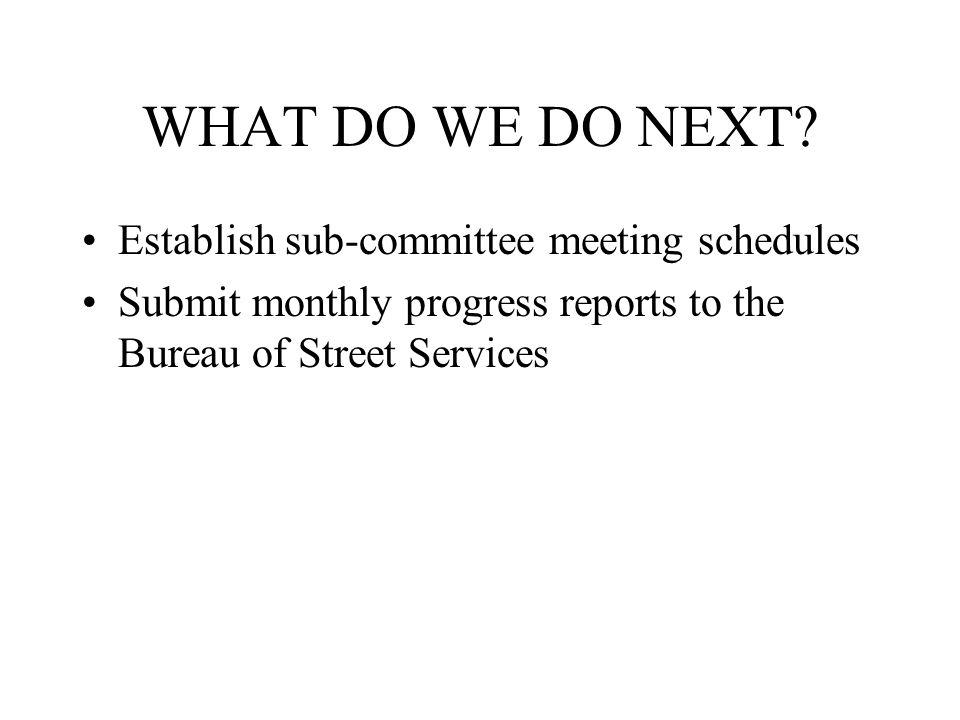 WHAT DO WE DO NEXT.