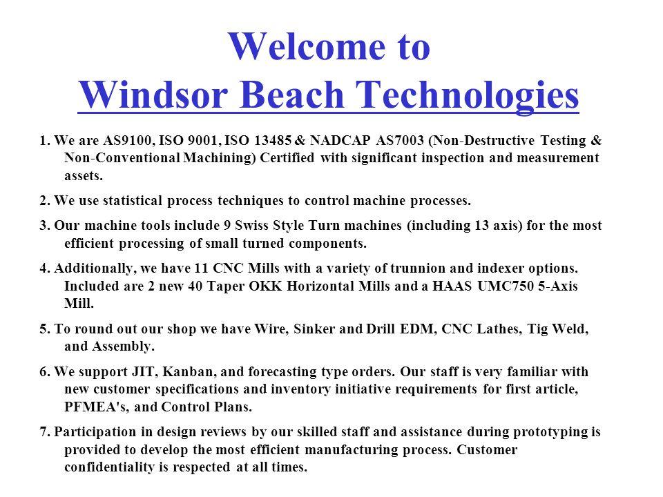 Welcome to Windsor Beach Technologies 1.