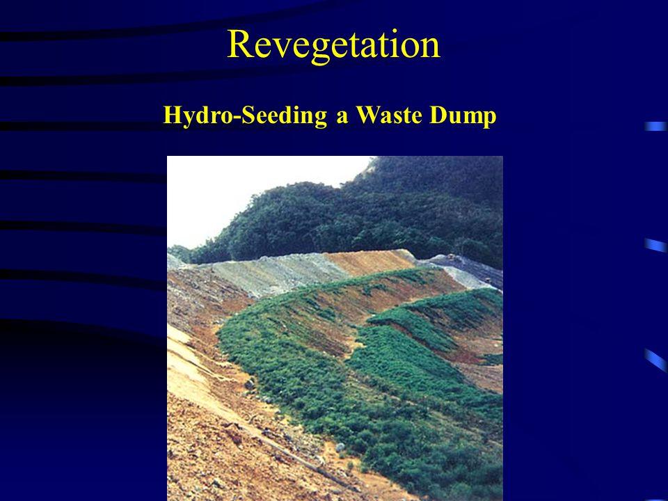 Revegetation Hydro-Seeding a Waste Dump