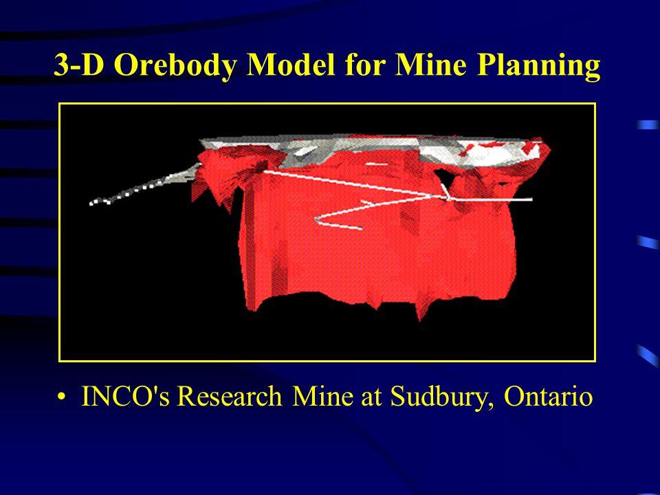 3-D Orebody Model for Mine Planning INCO's Research Mine at Sudbury, Ontario