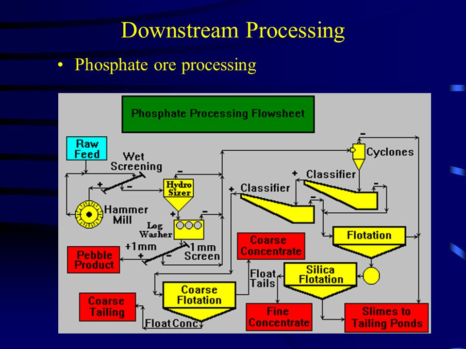 Downstream Processing Phosphate ore processing