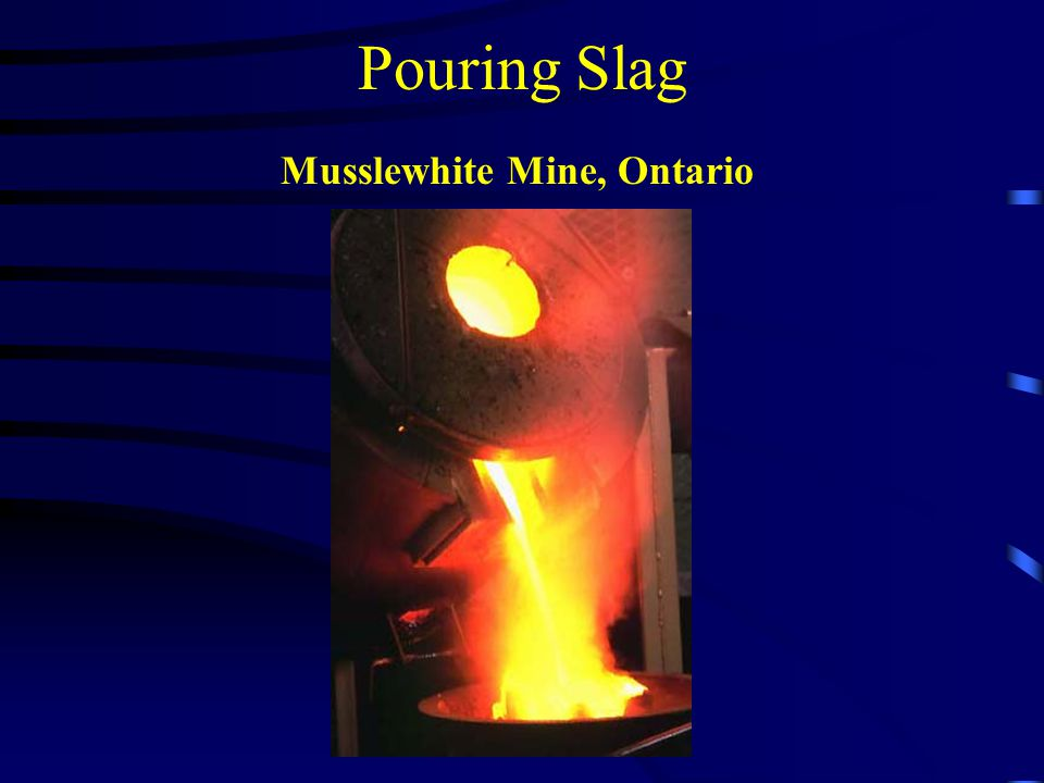 Pouring Slag Musslewhite Mine, Ontario