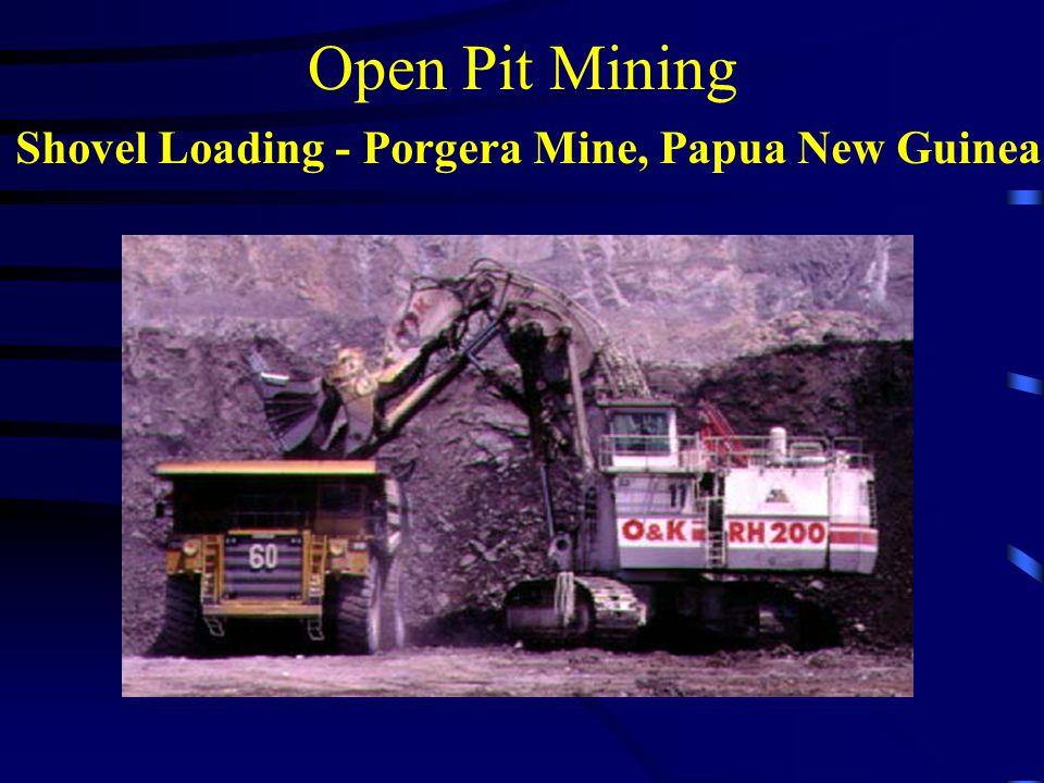 Open Pit Mining Shovel Loading - Porgera Mine, Papua New Guinea