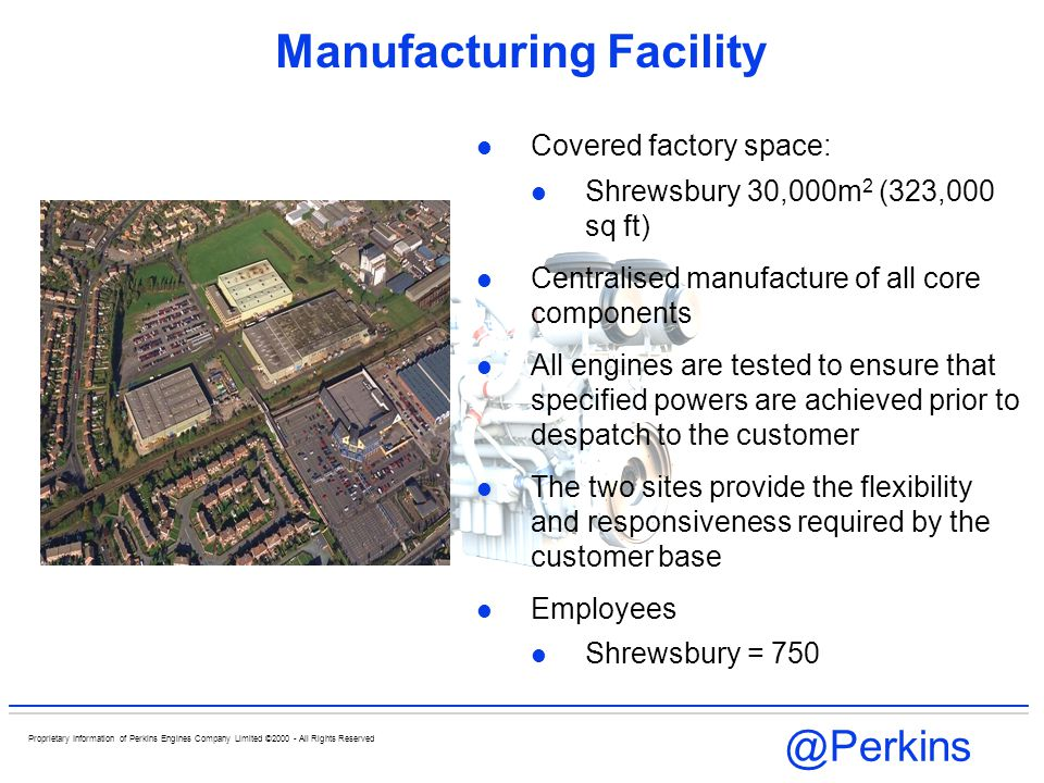 @Perkins Proprietary Information of Perkins Engines Company Limited ©2000 - All Rights Reserved Perkins 3000 Series Engines Crankshaft regrinding Re-grind to: - 0,25 mm Re-grind & Re-harden: - 0,50 mm Re-grind to: -0,75 mm Re-grind & Re-harden: -1,00 mm