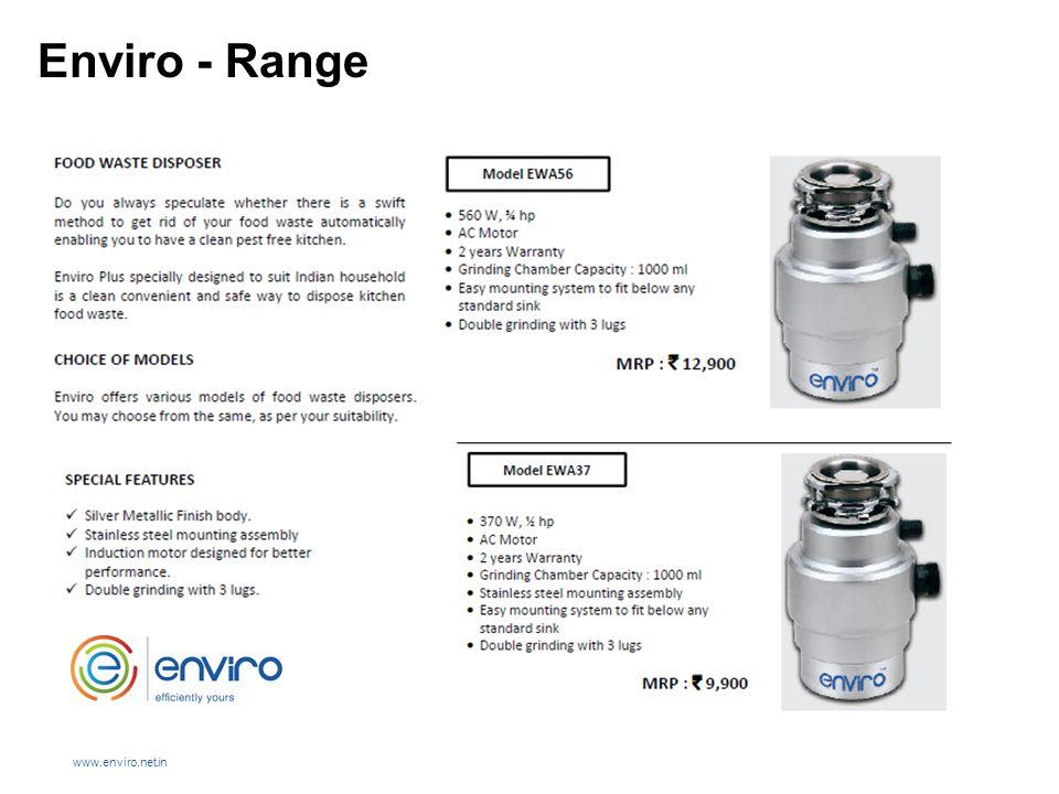 Enviro - Range www.enviro.net.in