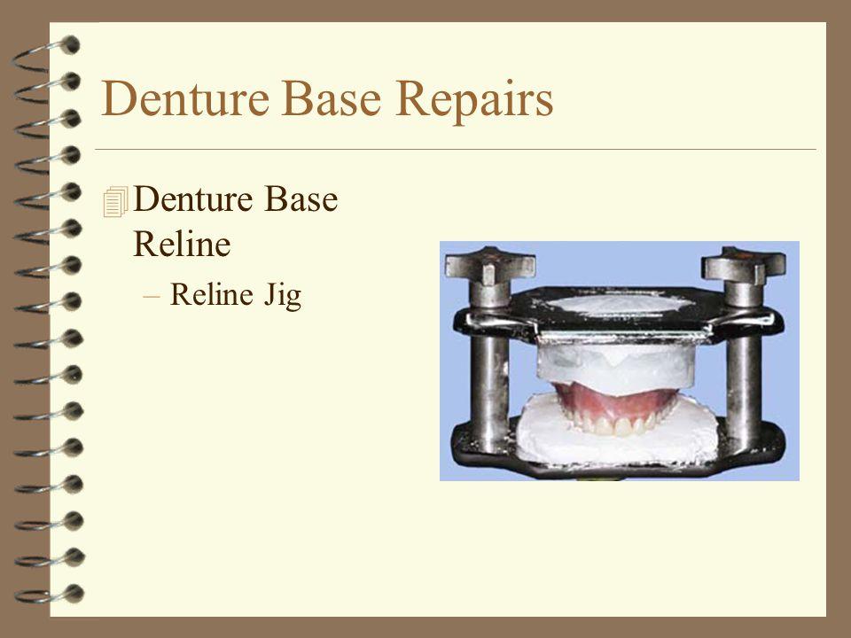 Denture Base Repairs 4 Denture Base Reline –Reline Jig