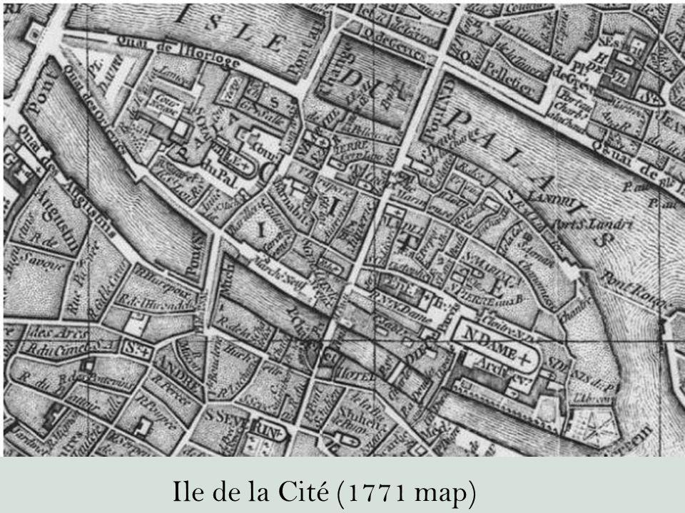 Ile de la Cité (1771 map)