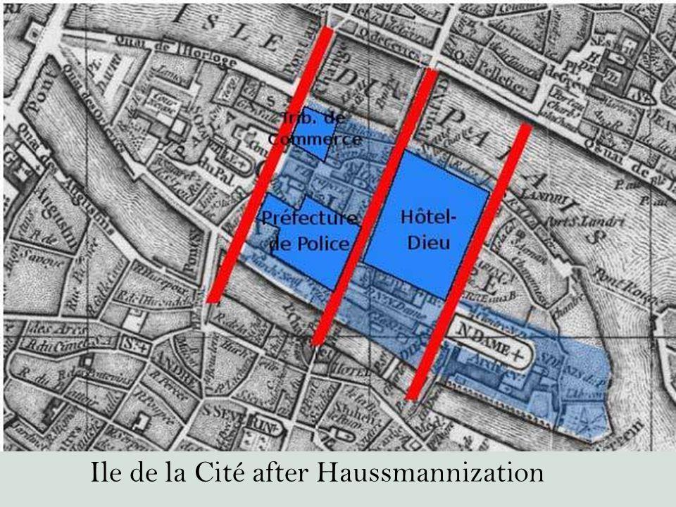 Ile de la Cité after Haussmannization