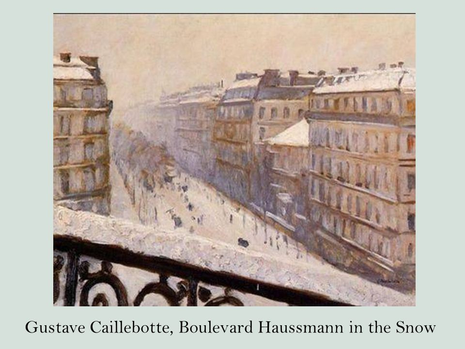 Gustave Caillebotte, Boulevard Haussmann in the Snow