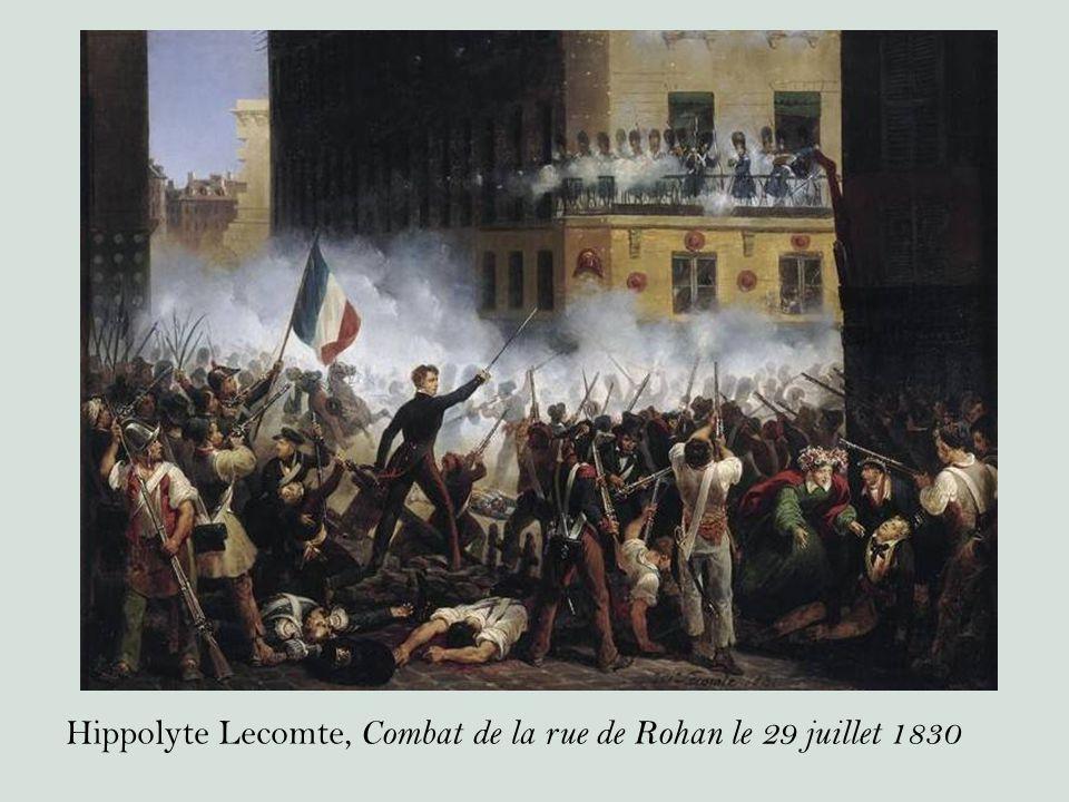 Hippolyte Lecomte, Combat de la rue de Rohan le 29 juillet 1830