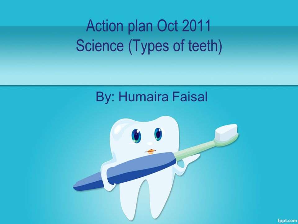 Action plan Oct 2011 Science (Types of teeth) By: Humaira Faisal