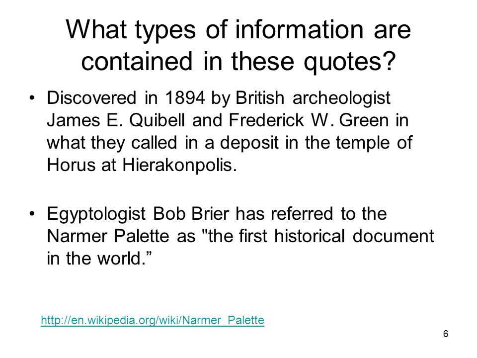 7 What types of information are contained in these quotes.