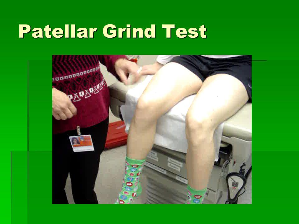 Patellar Grind Test