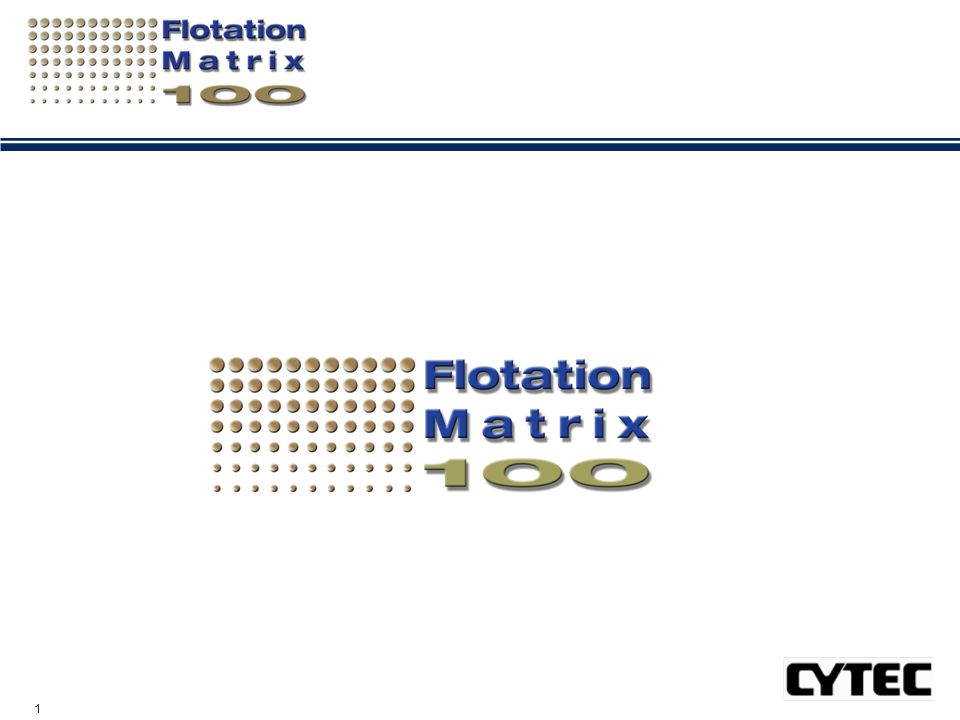 12 The Flotation Matrix 100™ Process Laboratory Testing Lab Screening I - Diagnostic Tests, Tools & Designs Important Chemical and Operational Factors; Important Ore Types Establish Suitability of Ore Sample for Reagent screening Establish suitable Controls (not just plant Standard ) for Benchmarking/comparison Main laboratory Test Program Important Variables & Ore Types, Test Designs using DOE's & REFDIST® Ensuring the Right Products for YOU