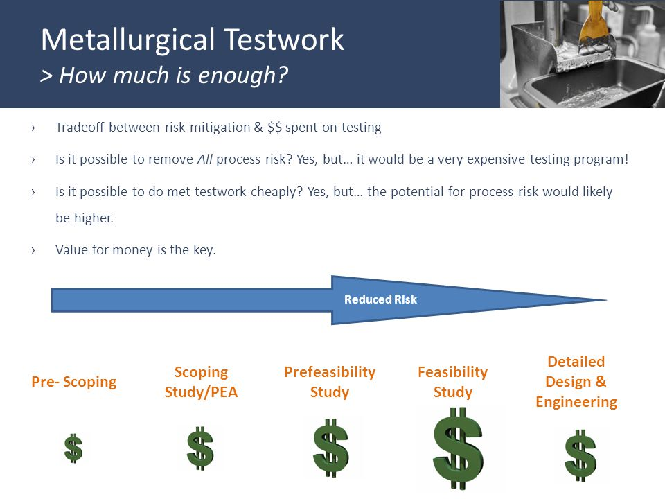 Metallurgical Testwork > How much is enough.
