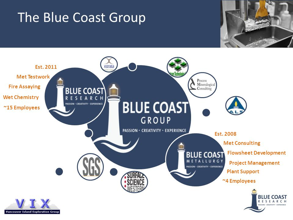 The Blue Coast Group Met Testwork Fire Assaying Wet Chemistry Met Consulting Flowsheet Development Project Management Plant Support Est.