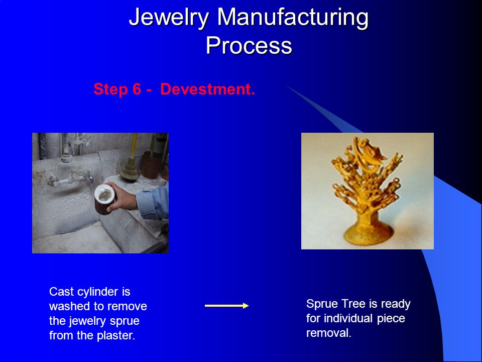 Jewelry Manufacturing Process Step 6 - Devestment.