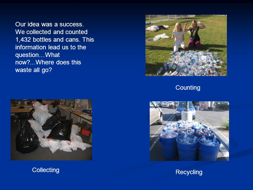 We started thinking about all the other waste that ends up in the landfills that can't be recycled.