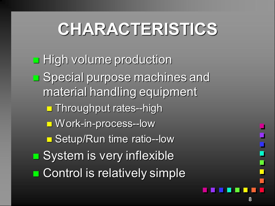 7 TYPES OF MANUFACTURING LAYOUT CONFIGURATIONS I.Product Line Layout Product A B C