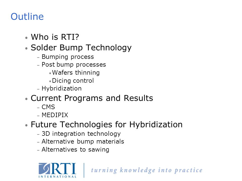 Copyright © 2004 MCNC-RDI.All rights reserved. A Crisis of Identity…Who is RTI.