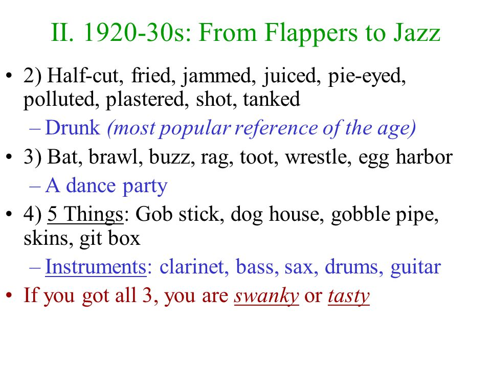 II. 1920-30s: From Flappers to Jazz 1920s captured by F.