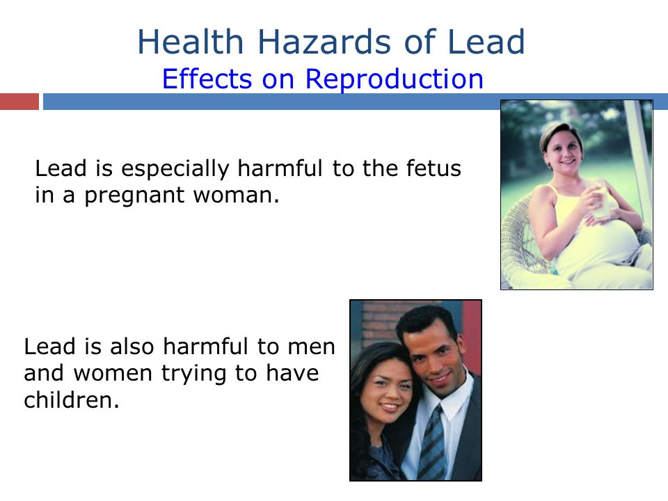 Health Hazards of Lead Effects of Lead on Children Children are very susceptible to the effects of lead.