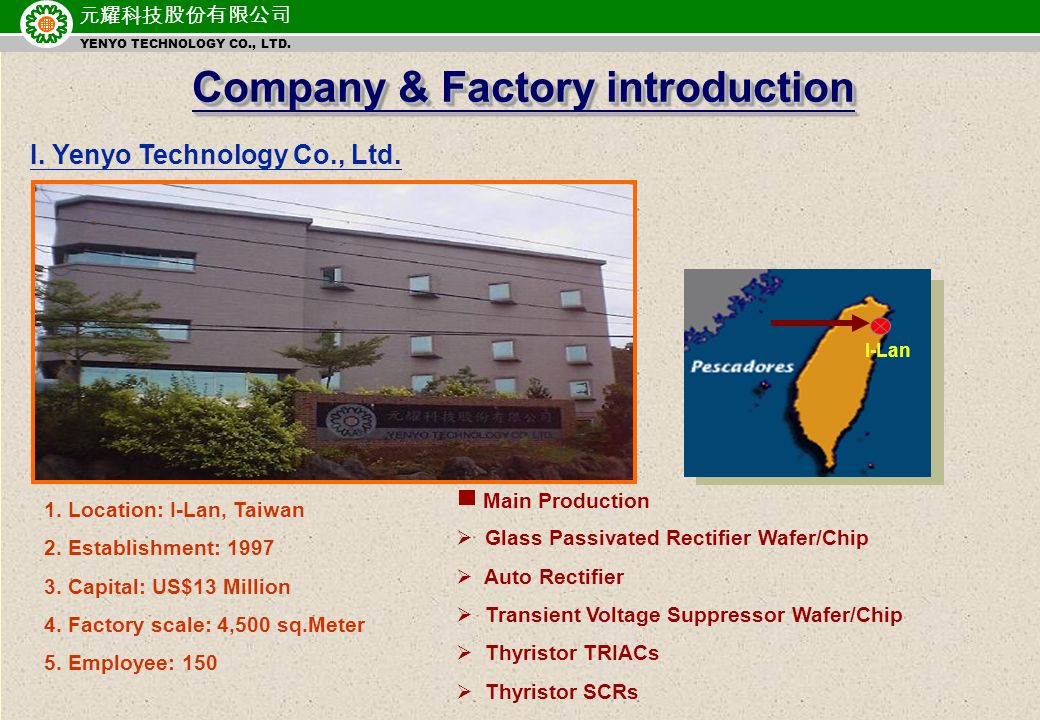 元耀科技股份有限公司 YENYO TECHNOLOGY CO., LTD.I. Yenyo Technology Co., Ltd.