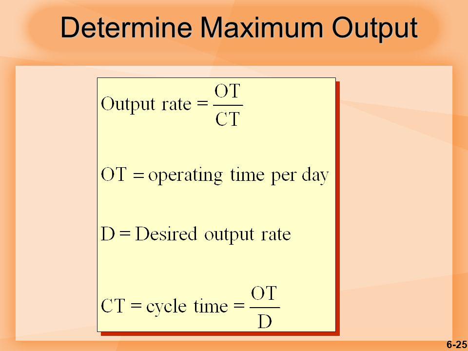 6-25 Determine Maximum Output