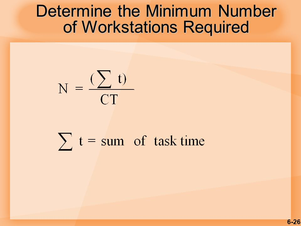 6-26 Determine the Minimum Number of Workstations Required