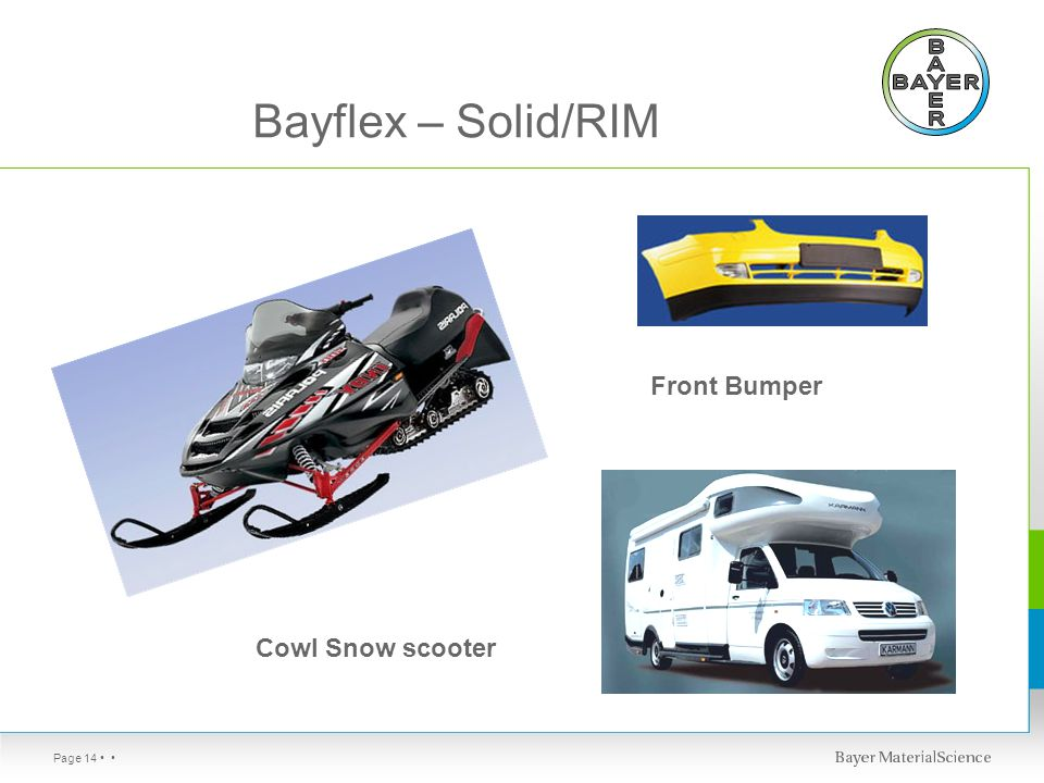 Page 14 Bayflex – Solid/RIM Cowl Snow scooter Front Bumper
