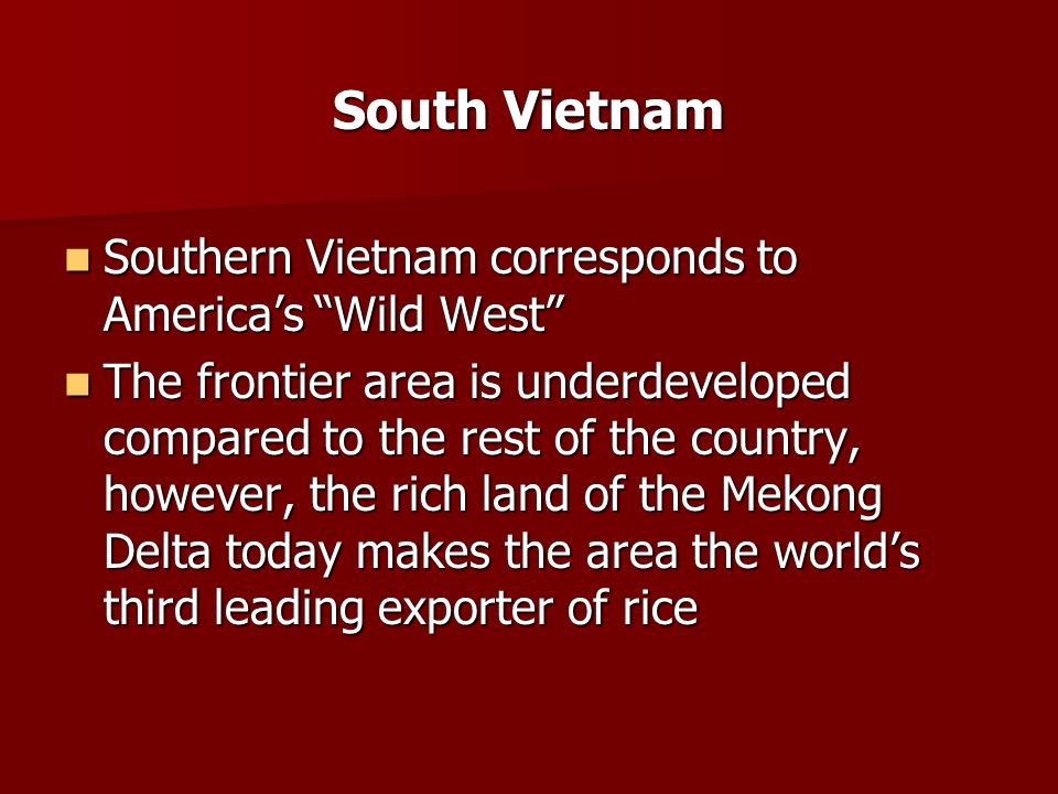 Rain Forests ½ Vietnam covered by jungle-like rain forests ½ Vietnam covered by jungle-like rain forests 4/5 covered by trees & tropical vegetation 4/5 covered by trees & tropical vegetation Also sandy beaches & grassy prairies Also sandy beaches & grassy prairies Home to elephants, wild boar, tigers Home to elephants, wild boar, tigers