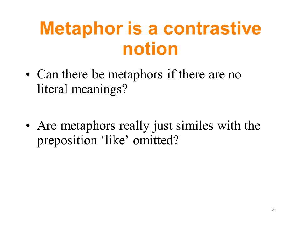 Media Text metaphors Pictorial metaphors –Especially in cartoons and advertisements –Cf.