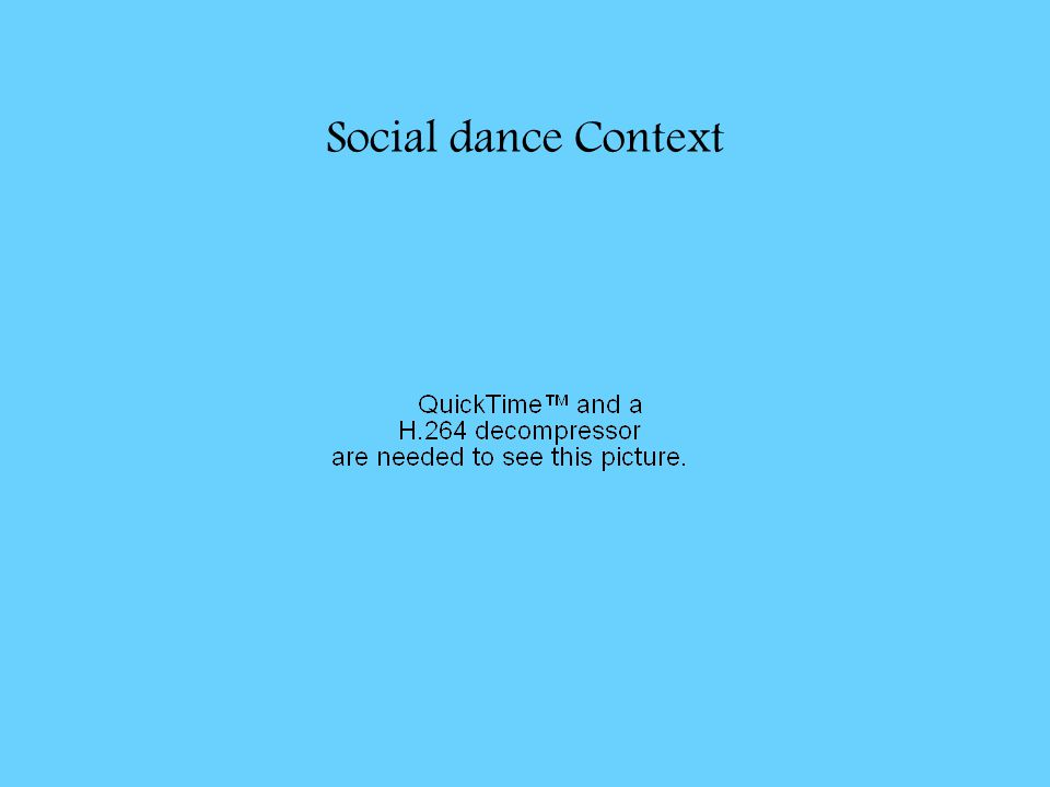 Social dance Context
