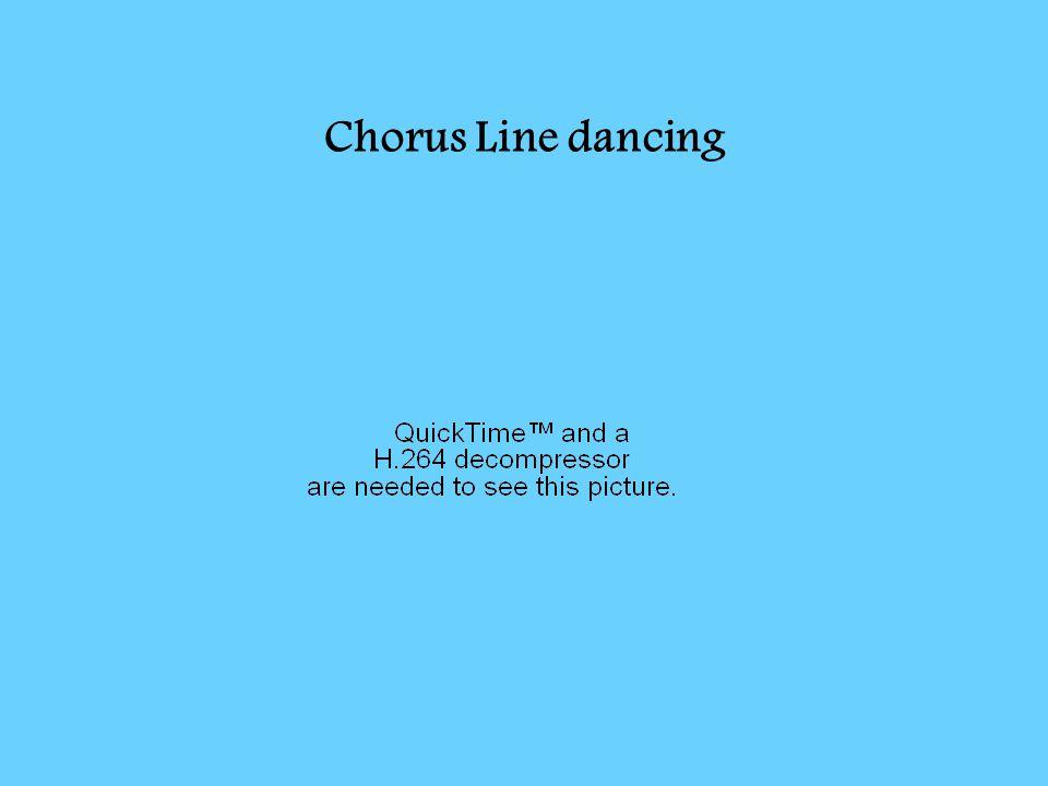 Chorus Line dancing