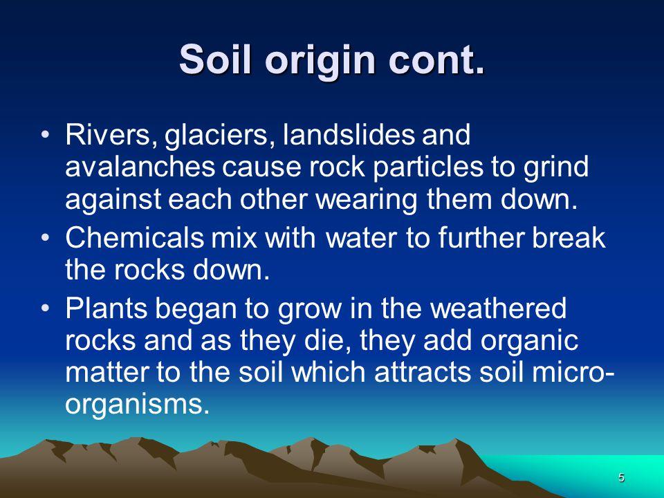 5 Soil origin cont.