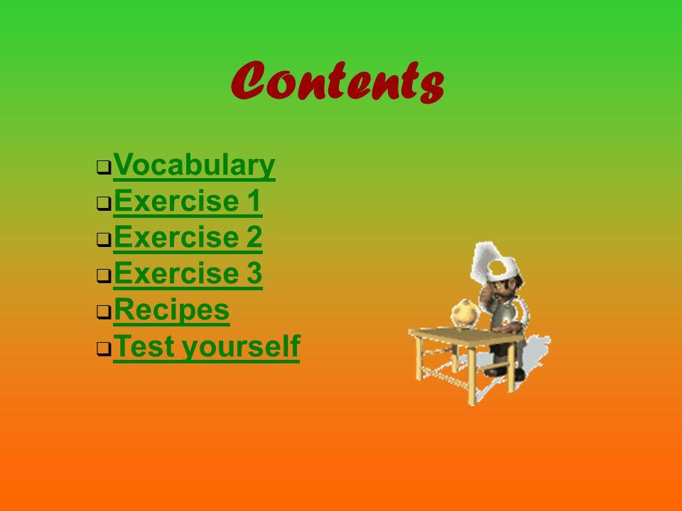 fry bake grill boil grind grate slice chop peel dice mash vocabulary