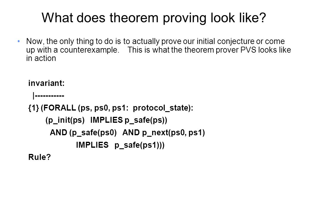 What does theorem proving look like.