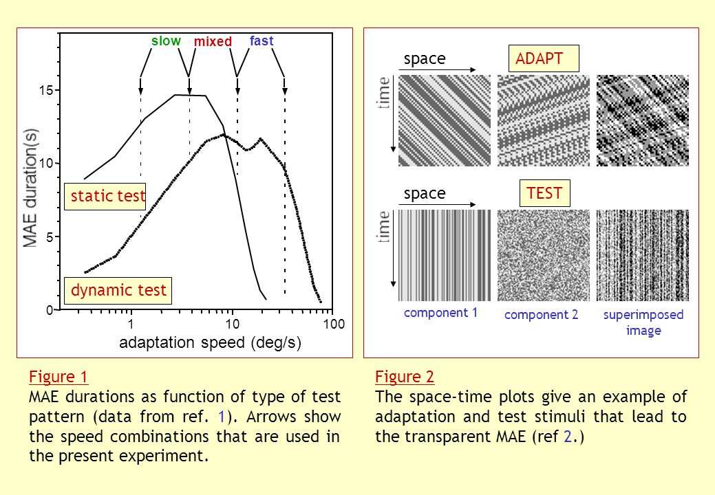 Figure 1 MAE durations as function of type of test pattern (data from ref.