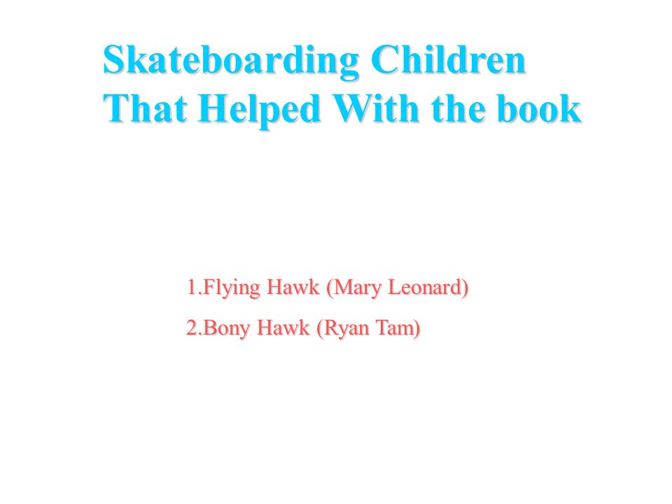 1.Tony Hawk 2.Bob Burnquist 3.Jamie Thomas 4.Ellisa Steamer 5.Steve Callibaro Pro-skaters