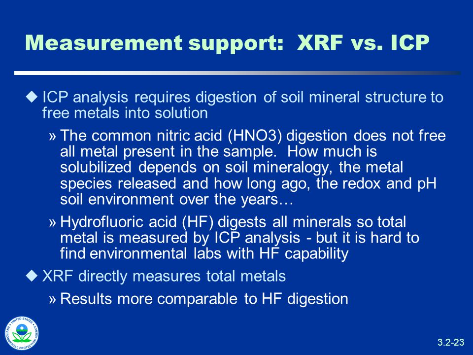 3.2-23 Measurement support: XRF vs.
